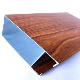 廠家現貨**鋁鎂合金基材50*10凸凹型木紋鋁方通