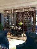 供應不鏽鋼酒店屏風中式拉絲香檳金屏風定製加工