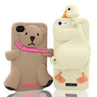 iPhone4白天鹅硅胶手机套