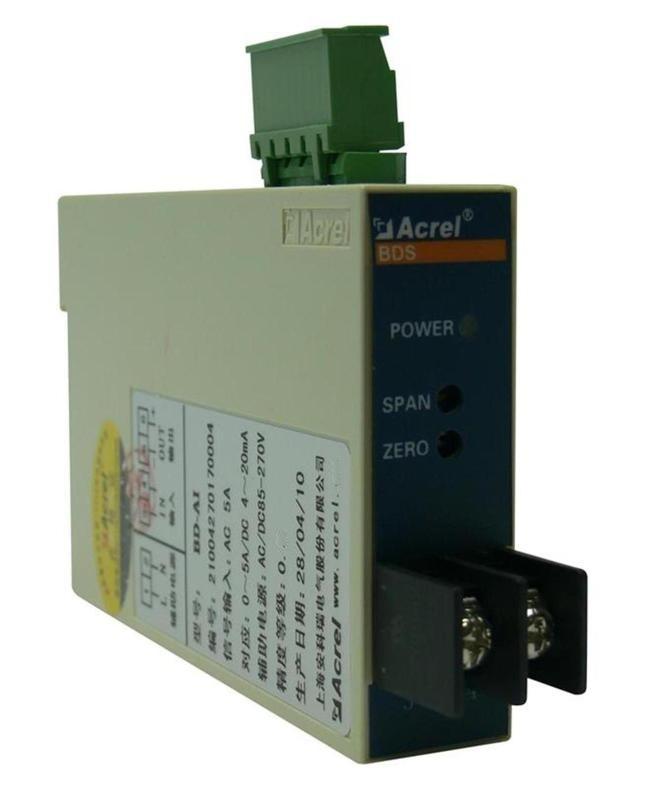 安科瑞 电量变送器 BD-AI 单相电流隔离变送4-20MA信号输出 电流变送器