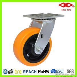 双菱新品 4吋5吋6吋8吋塑芯聚氨酯(PU)重载脚轮 万向工业脚轮