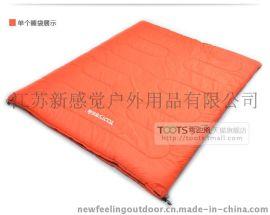 TOOTS   户外睡袋 双人加厚加宽信封式成人棉睡袋 春秋冬季野营用品