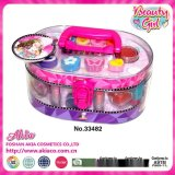 Akianme 33482 20.7*13*10cm 兒童橢圓形PVC手提化妝盒
