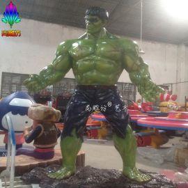 尚雕坊现货直销2015款H180CM影视人物绿巨人树脂摆件