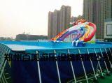夏季樂翻天移動水上樂園,支架水池,鋼管游泳池定做