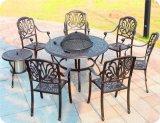 铸铝户外烧烤桌椅组合 阳台庭院花园室外休闲家具