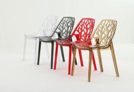 镂空透明时尚休闲塑料椅,设计名椅