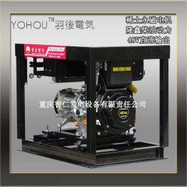 隆鑫动力6KW小型柴油直流发电机ZF6/MC48-100 移动式100A 48V柴油直流发电机