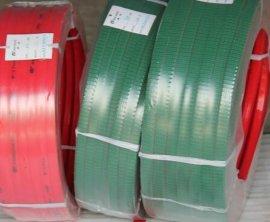 綠色紅色傳動帶PU圓帶,聚氨酯圓帶,粗麪綠色,光面紅色.傳動帶