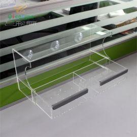 鸚鵡餵食器訂製廠家 亞克力八哥餵食盒 有機玻璃透明寵物餵食器 亞克力鳥槽
