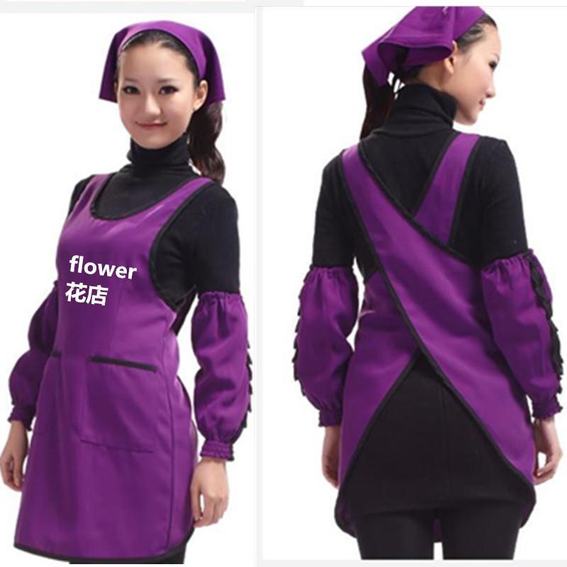 亲子母婴时尚店员工装围裙背心式美甲美容师工作服简约围裙+袖套