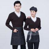 酒店工作服秋冬裝女假兩件毛衣咖啡西餐廳餐飲火鍋飯店  員長袖