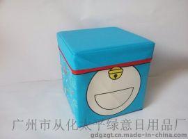 广东收纳凳厂家广州绿意 哆啦A梦叮当猫款皮革收纳凳/箱欢迎定做