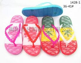 揭阳厂家供应女款时尚水晶带拖鞋