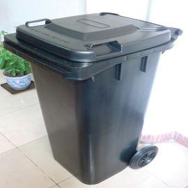 防静电120升带盖垃圾桶, 防静电黑色垃圾箱, 防静电圆桶。