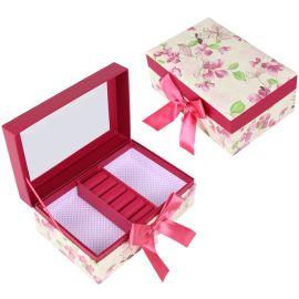 韩版可爱饰品蝴蝶结首饰戒指项链盒化妆品收纳纸盒定做定制
