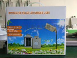 太阳能花园灯led草坪灯小型太阳能发电5W太阳花人体感应庭院灯