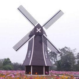 景觀防腐木風車 安徽歲氏5米風車 荷蘭風車