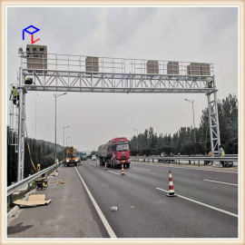 高速公路限高杆 智能遥控液压高速公路龙门架限高架