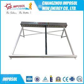 出口品質不鏽鋼真空管太陽能集熱器,非承壓集熱器,太陽能工程聯箱 ISO9001認證