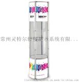 摺疊促銷臺圓形可摺疊展柱高檔展示櫃促銷展示架廣告櫃檯展架