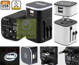 光幻全球通旅行转换插座(USB輸出:3.2A發光LOGO)萬能转换插头