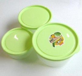 塑料日用品圆形三件套保鲜盒(CJ-7385)