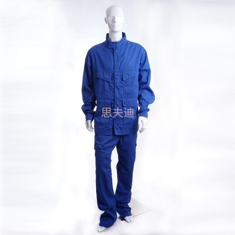 勞保工作服套裝 阻燃防靜電服 全棉滌棉 定製勞保阻燃抗靜電服