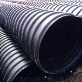 湖南HDPE钢带管增强螺旋管dn300的生产设备