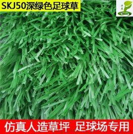 塑料假草坪足球运动场人造草坪5公分PE材质