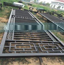 工厂小区锌合金围墙围栏 别墅铁艺栏杆 学校锌钢护栏网隔离栏定制