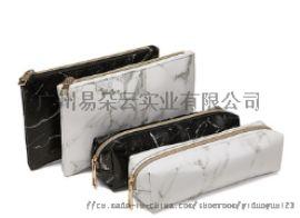 PU皮大理石纹化妆包笔袋化妆粉刷包