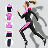 瑜伽服套装秋冬新款五件女跑步衣健身房显透气速干套装