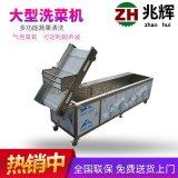 自产自销优质不锈钢清洗设备 多功能蔬果气泡洗菜机