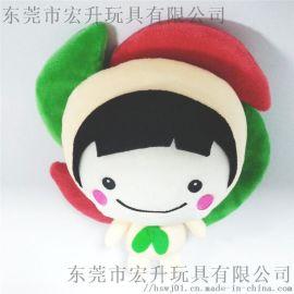 毛绒玩具风车娃娃婚庆节日活动礼品可来图打样设计