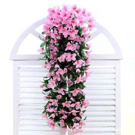 仿真百合花壁挂花藤壁挂吊兰花吊篮花客厅阳台家居装饰花