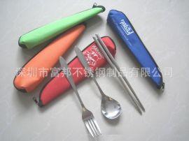 三角包旅行餐具, 便携餐具, 不锈钢勺叉筷套装