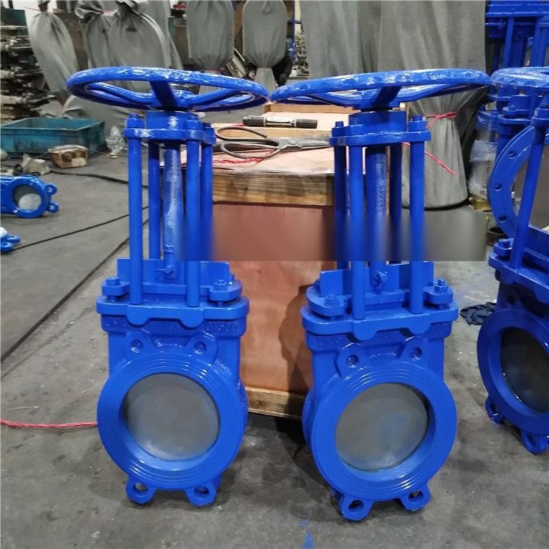 手動薄形漿閘閥 鑄鐵漿液閥 溫州廠家