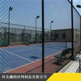 厂家直销体育场护栏勾花网  包塑镀锌隔离铁丝勾花网