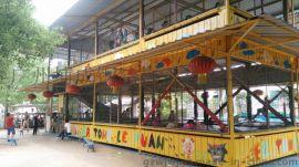 设计承建儿童游乐设施钢结构|水上乐园大喇叭钢架