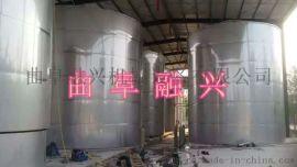 304不锈钢储罐 白钢罐地埋储 罐现场制造