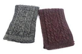 欧美流行AB纱针织绞花围巾