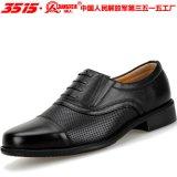 強人夏季三接頭軍官07皮鞋3515商務正裝男士鏤空涼皮鞋透氣網眼鞋