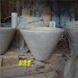 砂岩仿黄麻石花盆雕塑定做生产厂家