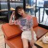 滿版印花短袖T恤 精品針織冰絲T恤 寬鬆冰絲T恤