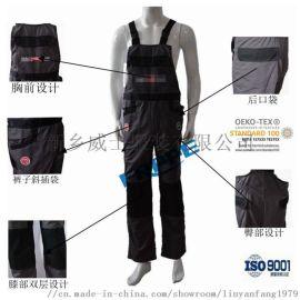 厂家  全棉阻燃背带裤特种工作裤 实用耐磨工作服