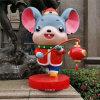 新年主題玻璃鋼雕塑美陳鼠卡通雕塑