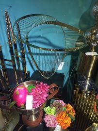 不锈钢花盆摆件大花工艺园艺创意花器工艺品定制