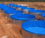 圆形养殖池养鱼水池刀刮布防水水蛭锦鲤