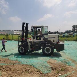 厂家生产 四驱越野叉车 全地形3吨叉车